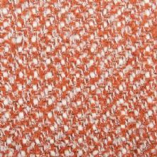 Boucle Wool Blend Tweed Fabric in Rust and Cream 150cm Wide
